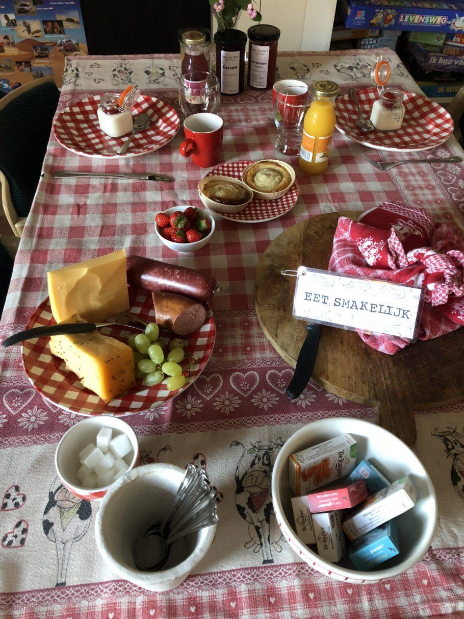 Eten bij de boerin