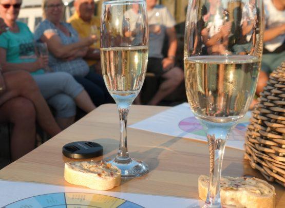 Wijnproeverij op de camping woensdag juli 2017